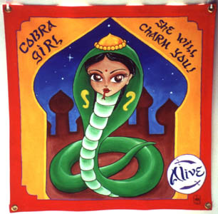 Cobra Girl Side Show Banner