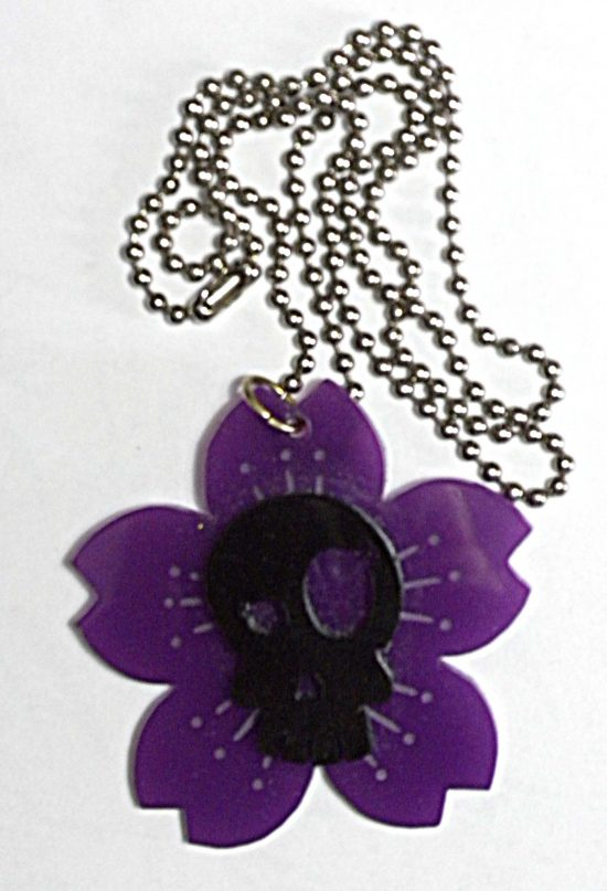 Purple Skull Necklace
